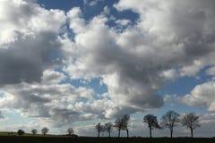 Lantligt landskap nära Moritzburg, Tyskland Royaltyfri Bild