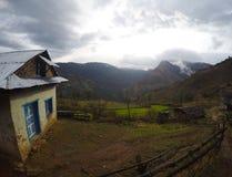 Lantligt landskap, trek till Everest Fotografering för Bildbyråer