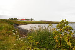 Lantligt lantbrukarhem i Icelan Royaltyfria Bilder