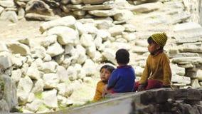 Lantligt liv i den Kalpa byn arkivfilmer