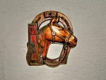Lantligt metalltecken av hästen Royaltyfri Fotografi