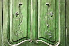 Lantligt snida för dörr Arkivbild
