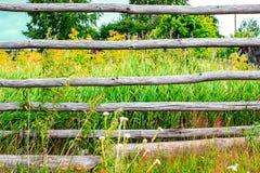 lantligt staket Arkivfoto