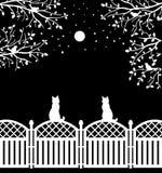 lantligt staket royaltyfri illustrationer