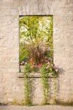 lantligt stenfönster Royaltyfria Bilder