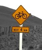 lantligt tecken för cykel Arkivfoto