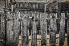 lantligt trä för staket fotografering för bildbyråer