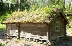 Lantligt trähus i det frilufts- museet Seurasaari, Helsingfors Arkivfoton