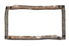 lantligt trä för ram Arkivbild