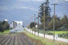 Lantligt väg- och lantgårdland Royaltyfria Bilder