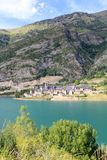 Lanuza village lake Huesca Pyrenees Spain Stock Photos