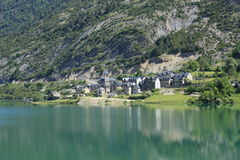 Lanuza, village in Tena valley, Pyrenees Stock Image