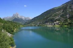 Lanuza, village in Tena valley, Pyrenees Royalty Free Stock Image