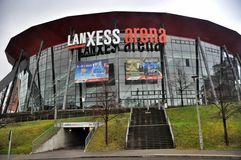 The Lanxess Arena in Cologne, Germany Stock Images