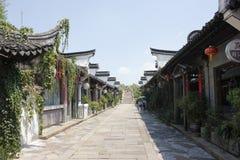 Lanxiuyuan με την ιστορική οδό και παραδοσιακό κτήριο εκτός από τη νότια λίμνη (Jiaxing, Zhejiang) Στοκ εικόνες με δικαίωμα ελεύθερης χρήσης