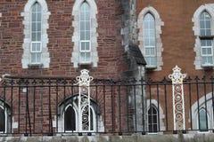Lany żelaza ogrodzenie przed klasztorem litość Obraz Royalty Free