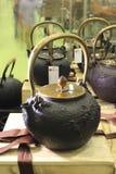 Lany żelazny teapot Obraz Stock