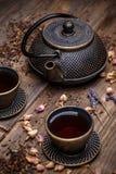 Lany żelazny teapot Zdjęcie Royalty Free