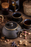 Lany żelazny teapot Obrazy Royalty Free