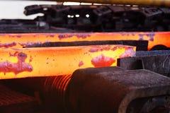 Lany żelazo lub metal w foremkach Obrazy Stock