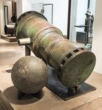 Lany metalu działo Muzeum Orsay Obraz Royalty Free