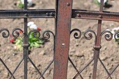 lany ogrodzenia żelaza wzór bezszwowy zdjęcia stock