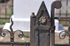 lany ogrodzenia żelaza wzór bezszwowy fotografia royalty free