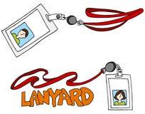Lanyard Badge ID Set Stock Photo