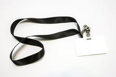 Lanyard with badge Stock Image