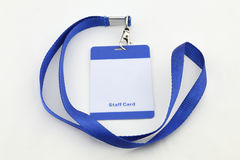 Lanyard For Badge Tag Royaltyfri Fotografi