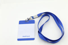 Lanyard For Badge Tag Stockfotos