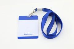 Lanyard For Badge Tag image libre de droits