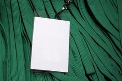 lanyard för ID för kortkonferensmiljögreen Royaltyfria Bilder