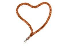 Lanyard Heart avec le crochet Image stock