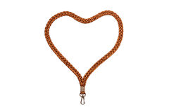 Lanyard Heart med kroken royaltyfria foton