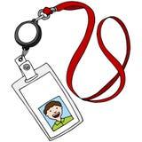 Lanyard ID Badge Royalty Free Stock Photography