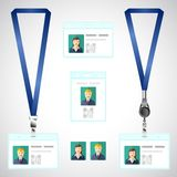 Lanyard, name tag holder end badge, id, template Royalty Free Stock Photo