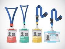 Lanyard, name tag holder end badge templates -  Stock Photography