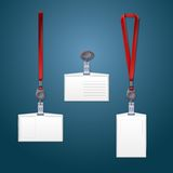 Lanyard, retractor and badge templates. Royalty Free Stock Photography