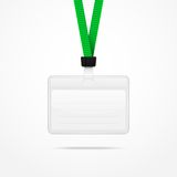 Lanyard with Tag Badge Holder. Stock Photography