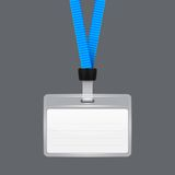Lanyard with Tag Badge Holder. Royalty Free Stock Photos