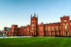 The Lanyon Building, Queen`s University Belfast, Northern Ireland, UK. Belfast, UK. The Lanyon Building, Queen`s University Belfast, Northern Ireland, UK in the stock photos