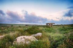 Lanyon Quoit in Cornwall. Lanyon Quoit near Madron on the Lands End Peninsula in Cornwall Royalty Free Stock Photo