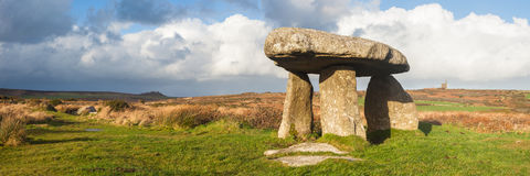 Lanyon Quoit Cornwall. Lanyon Quoit standing stones, a neolithic tomb on the Penwith Moor Cornwall England UK Europe Royalty Free Stock Images