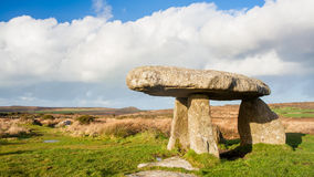 Lanyon Quoit Cornwall. Lanyon Quoit standing stones, a neolithic tomb on the Penwith Moor Cornwall England UK Europe Stock Photos