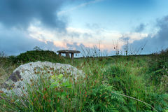 Lanyon Quoit. A Neolithic dolmen near Lands End in Cornwall Stock Image