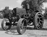 Lanz, tractor. Older German lanz, taktor with iron wheels royalty free stock photography