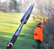 Lanza de la caza del hierro Fotografía de archivo