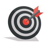 Lanza flechas en el centro de la blanco ilustración del vector