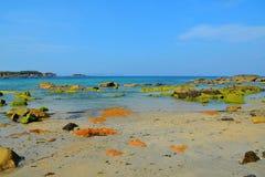 A Lanzada beach. Located in the Ría de Pontevedra, Galicia, Spain royalty free stock photos